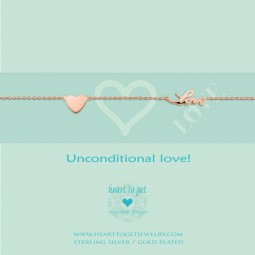 Heart to Get © Armband Unconditional love rosegold