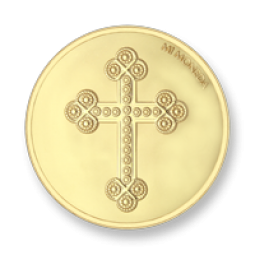 Mi Moneda Cross & Rosary Gold